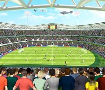 Voetbalkamer 3D behang